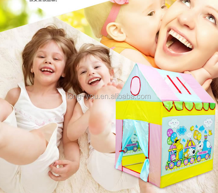 AIOIAI Colorful Kids Play Tent for Girls Fordable Girls Play Tent House