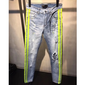 OEM new style boys pants stock dropshipping damaged men paint jeans