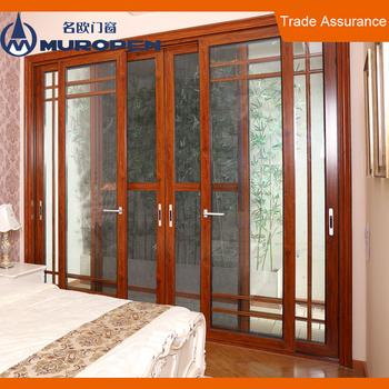 Wardrobe Sliding Door System Aluminum Overhang Flush Sliding Door System