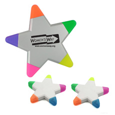 New popular design child intriguing stationery eco-friendly plastic colorful triangle shaped rounded caps 3 in 1 highlighter pen