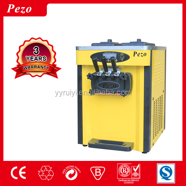 25L floor standing three flavor ice cream machine