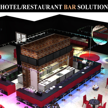 commercial hotel restaurant stainless steel bar equipment counter design - Stainless Steel Hotel Design
