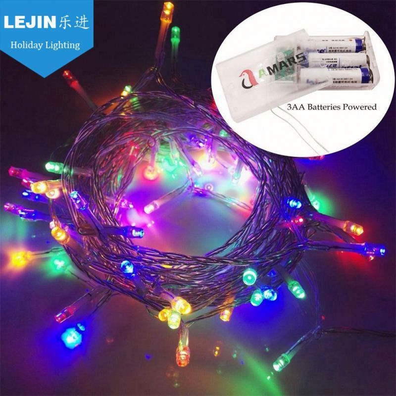 New Year colorful led battery operated light string With great price indoor decoration