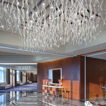 Customized High Quality Ceiling Hanging Clear Glass Crafts Large ...