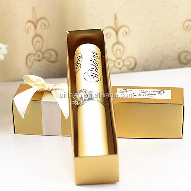 Golden Scroll Wedding Invitations
