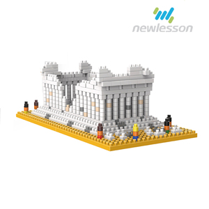 Funny bricks greek temples model building blocks puzzle toys for kids
