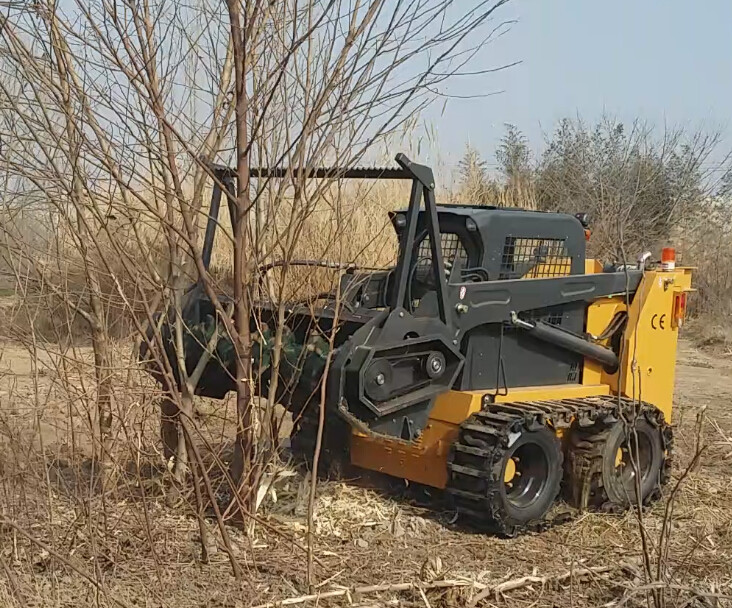 Forestry Mulcher For Sale >> Small Wheel Loader Forestry Mulcher Attachment - Buy Forestry Mulcher Attachment,Skid Steer ...
