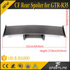 JC Sportline Nism O Style Carbon Fiber Body Kit Rear Spoiler Tail Wing for Nissa GTR