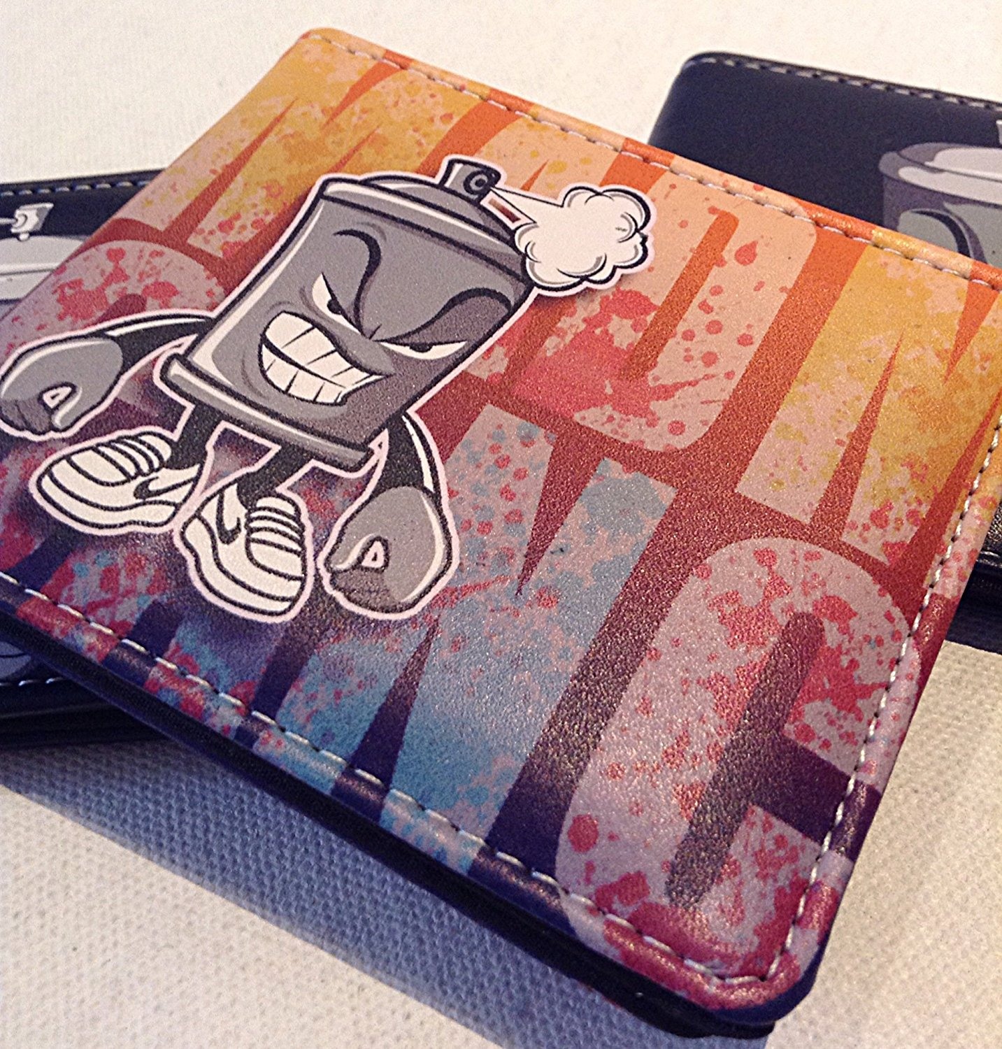 MaD CaN GraFF Life wallet style,5 pocket Graff style wallet collection , simple 5 pocket wallet/ clear ID slot , hiphop style collection