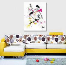frameless modern abstract acrylic oil paintings on canvas