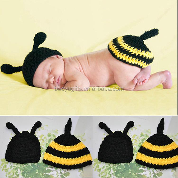 Mode Baby Fotografie Biene Anzug Bekleidung Neugeborenen Hatbody Stricken Abdeckung Häkeln Biene Kostüm Buy Baby Anzug Bekleidungneugeborenen