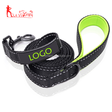 heavy duty 6 ft Long Custom Print Logo Reflective Nylon Dog Leash with Neoprene Padded Handle
