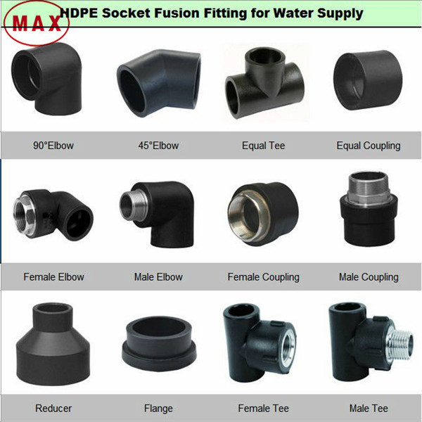Hdpe flange adapter water pipe fittings poly and