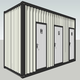 20 FT Prefabricated Modular Mobile Container Toilet for Event.