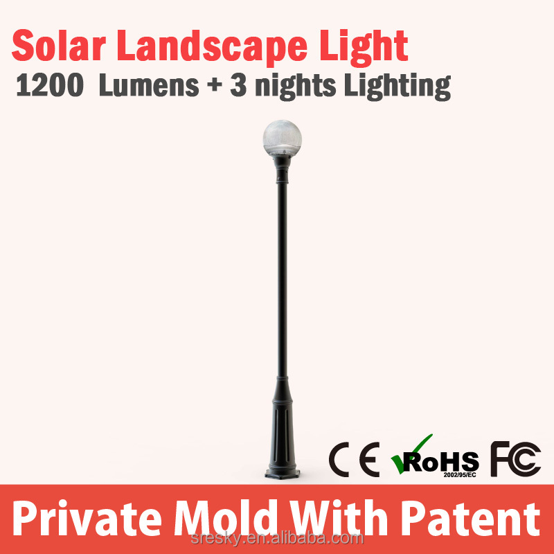 home used solar tower garden light made in China