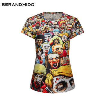 Fashion design sublimation printing custom woman 3D t-shirt
