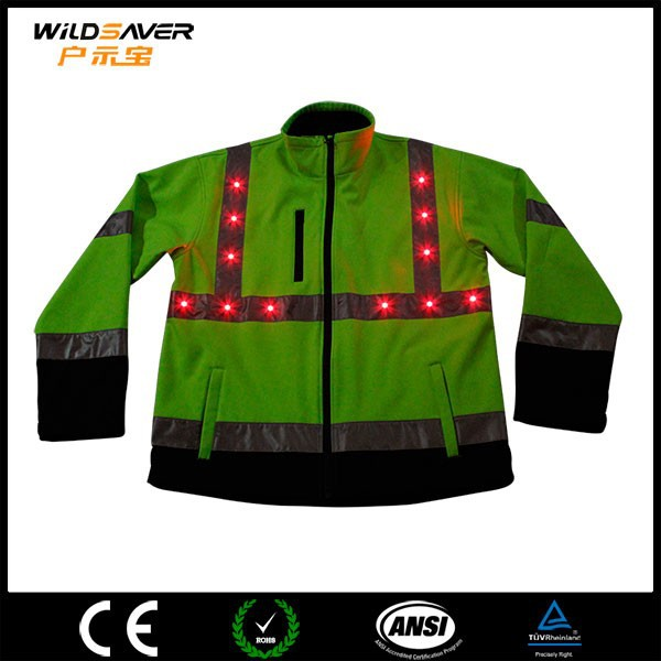 High vis LED reflecting riding jacket motorcycle