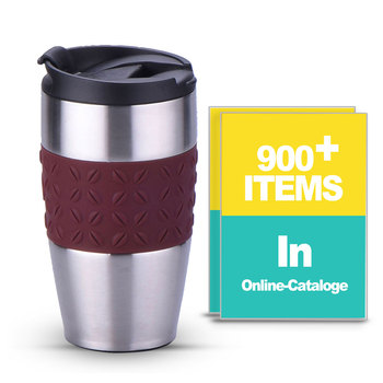 14oz 450ml Stainless Steel Logo Band Thermos Coffee Mug Vaccum insulated Coffee Bean Shop Mug of Coffee Without Handle