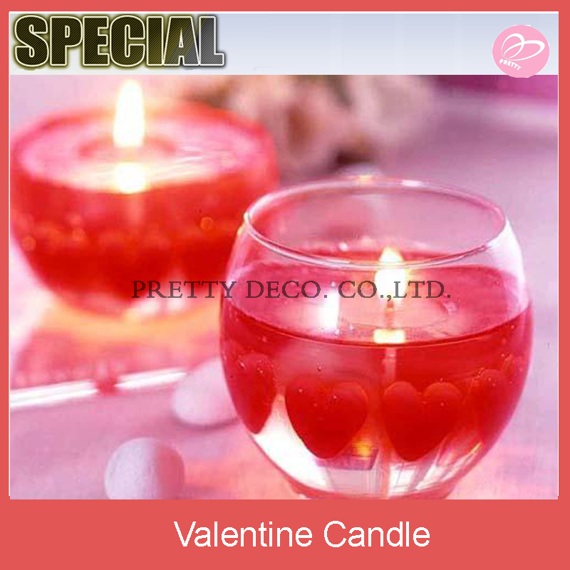 Heart shaped candles a beautiful Valentines Day gift candles