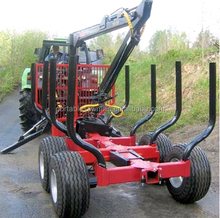 atv log trailer with crane 4wd capacity to 10 tons