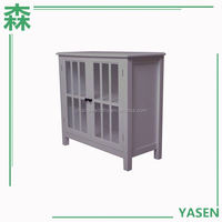 Yasen Houseware White Shake Wood Kitchen Cabinets,Waterproof Frosted Glass Kitchen Cabinet,White Oak Kitchen Cabinet Doors