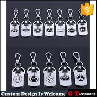 Wholesale car logo key ring, leather auto logos keyring, car badges key chain