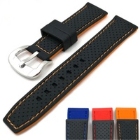 20 22 24mm Watchband Silicone Rubber Band Men Sports Watch Strap