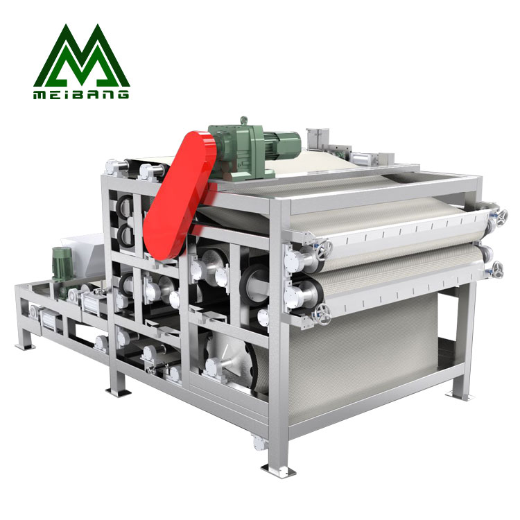 Meibang belt filter press dewatering  coco coconut plants residue dehydrator