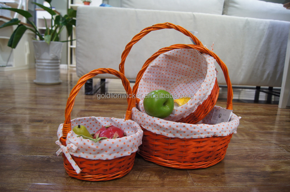 Set of 3 wicker fruit basket wholesale with ribboneaster gift set of 3 wicker fruit basket wholesale with ribboneaster gift basket wholesalecandy negle Choice Image