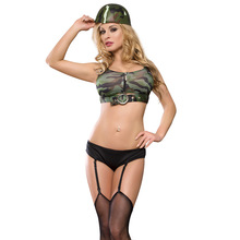 Heiße Rolle <span class=keywords><strong>Spielen</strong></span> Cosplay Frau <span class=keywords><strong>Sexy</strong></span> Dessous Camouflage Soldat Frauen <span class=keywords><strong>Sexy</strong></span> Unterwäsche