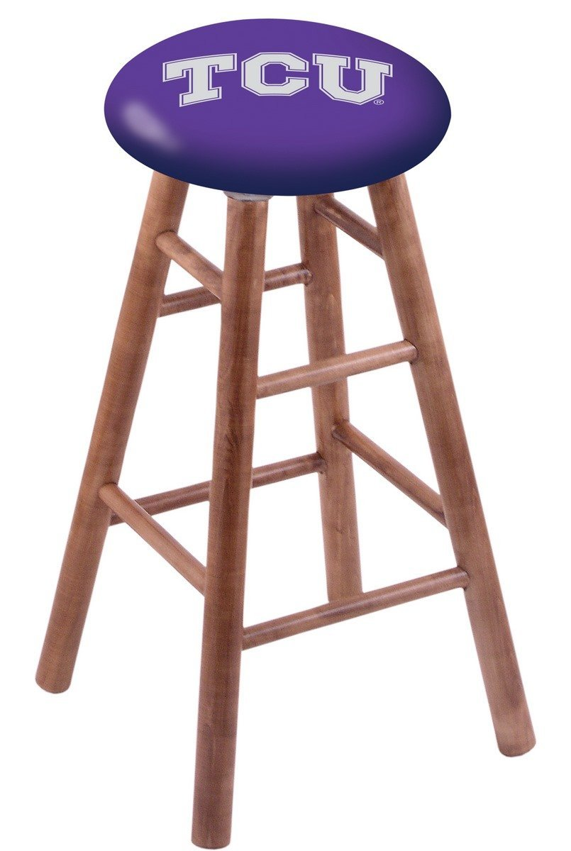 Maple Vanity Stool in Medium Finish with TCU Seat by Holland Bar Stool Co.