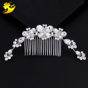 2018 hot sell company anniversary celebration lady dress match butterfly diamond hair comb