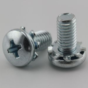 Phillips Pan Head Plated Steel Electrical Meter Box Screws for appliance