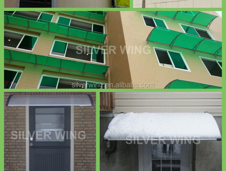 Economic Durable Shade Door Polycarbonate Used Aluminum Awnings For Sale