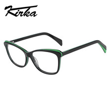 Кирка 2018, Ретро стиль, ацетат, близорукость, очки для глаз, женские, прозрачные линзы, оправа, оптические очки, очки(Китай)