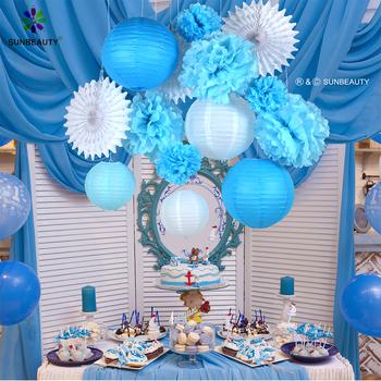Sunbeauty Wholesale Happy Birthday Party Blue Theme Decorations Set