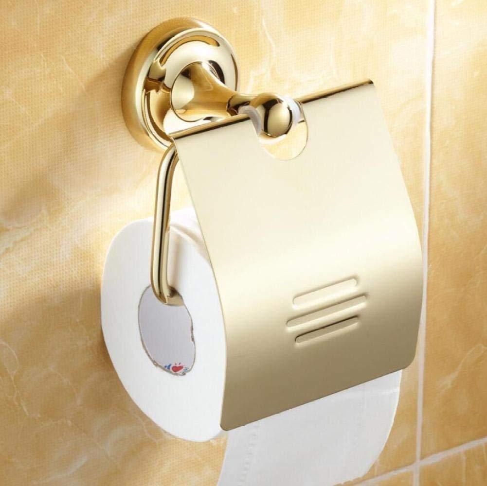 L.I. Roll Fabric of Gold of Toilet Paper Accessories Wall-Storage Door-Bathroom Container Door of Paper Toilet Paper Top of Range for Door-Towels Home Bathroom Kitchen