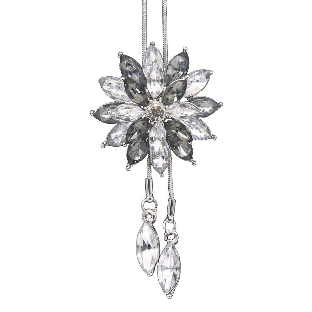 Sterling Silver Girls .8mm Box Chain Small Six Branched Snowflake Pendant Necklace