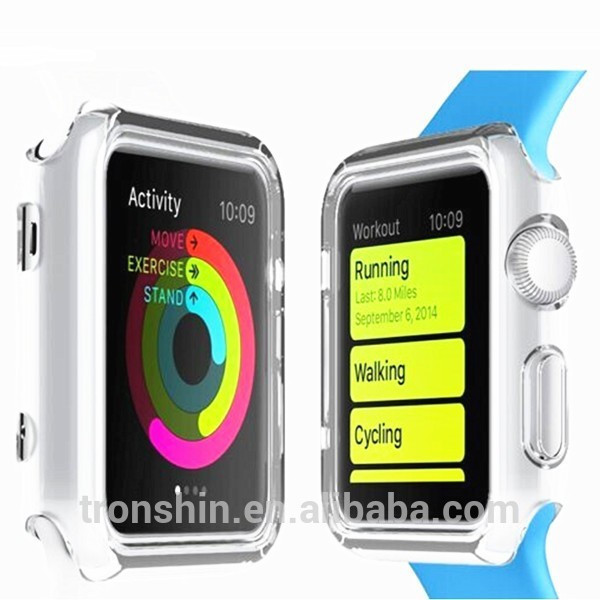 Real device mould precise holl whole surround protective case for Apple watch