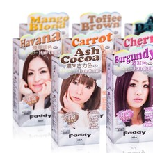 8 colors choice Bubble long lasting hair color dye kit