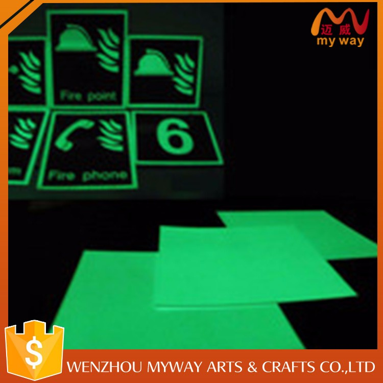Wall sign glow sticker for kinds of office/school