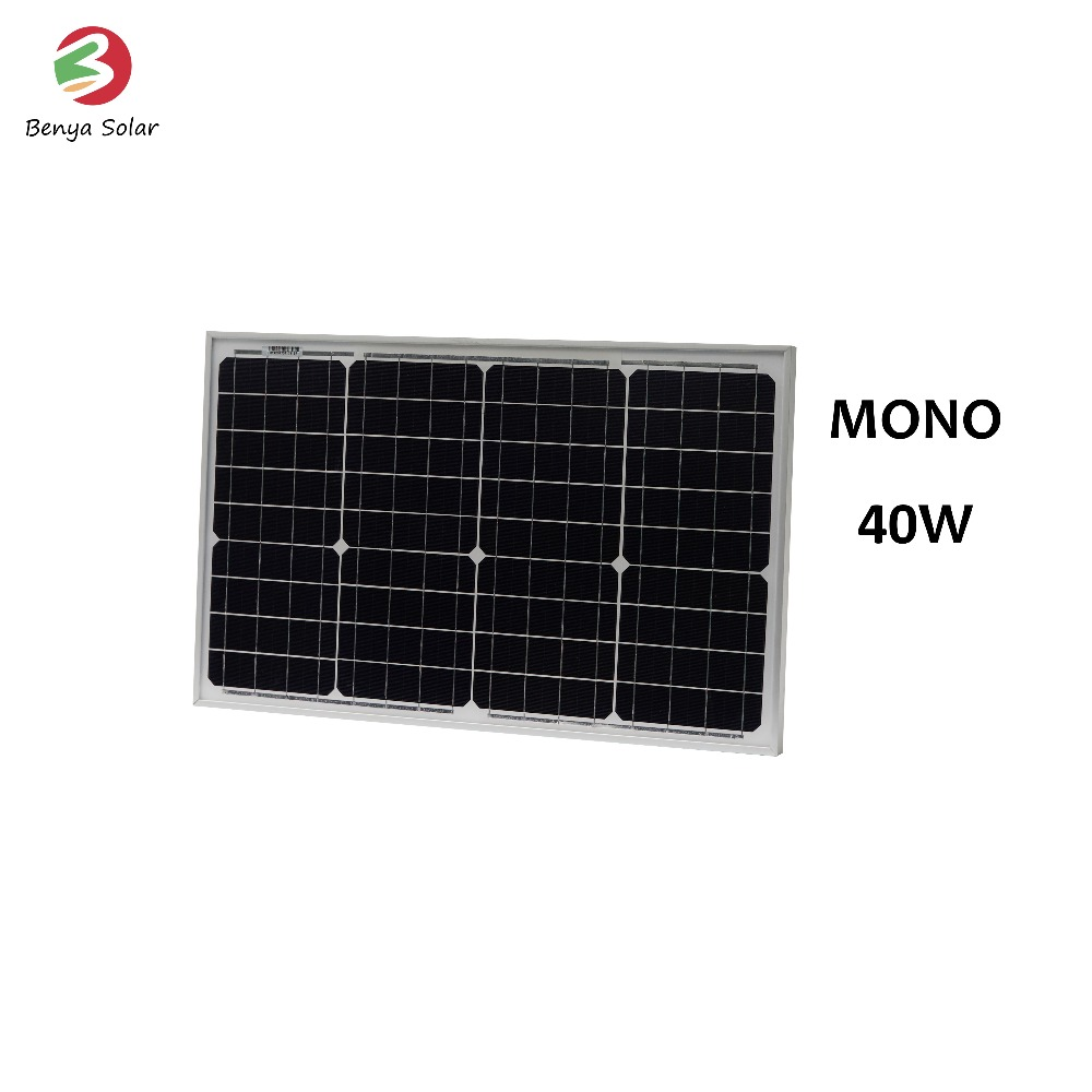 Popular pv 40w monocrystalline silicon solar panel price