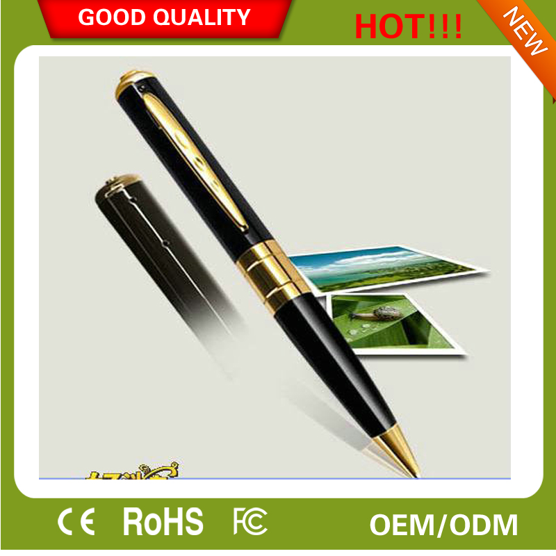 640*480P Camera recorder stainless steel Pen spy camera Hidden Spy Pen Camera, Pen Camcorder Video From China