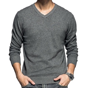 Casual Slim Fit V Neck Pullover Knit Korean Mens Sweaters Knitwear