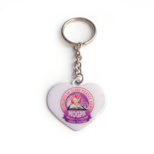 Promotional 2d custom Keyring Metal heart shape Keychain