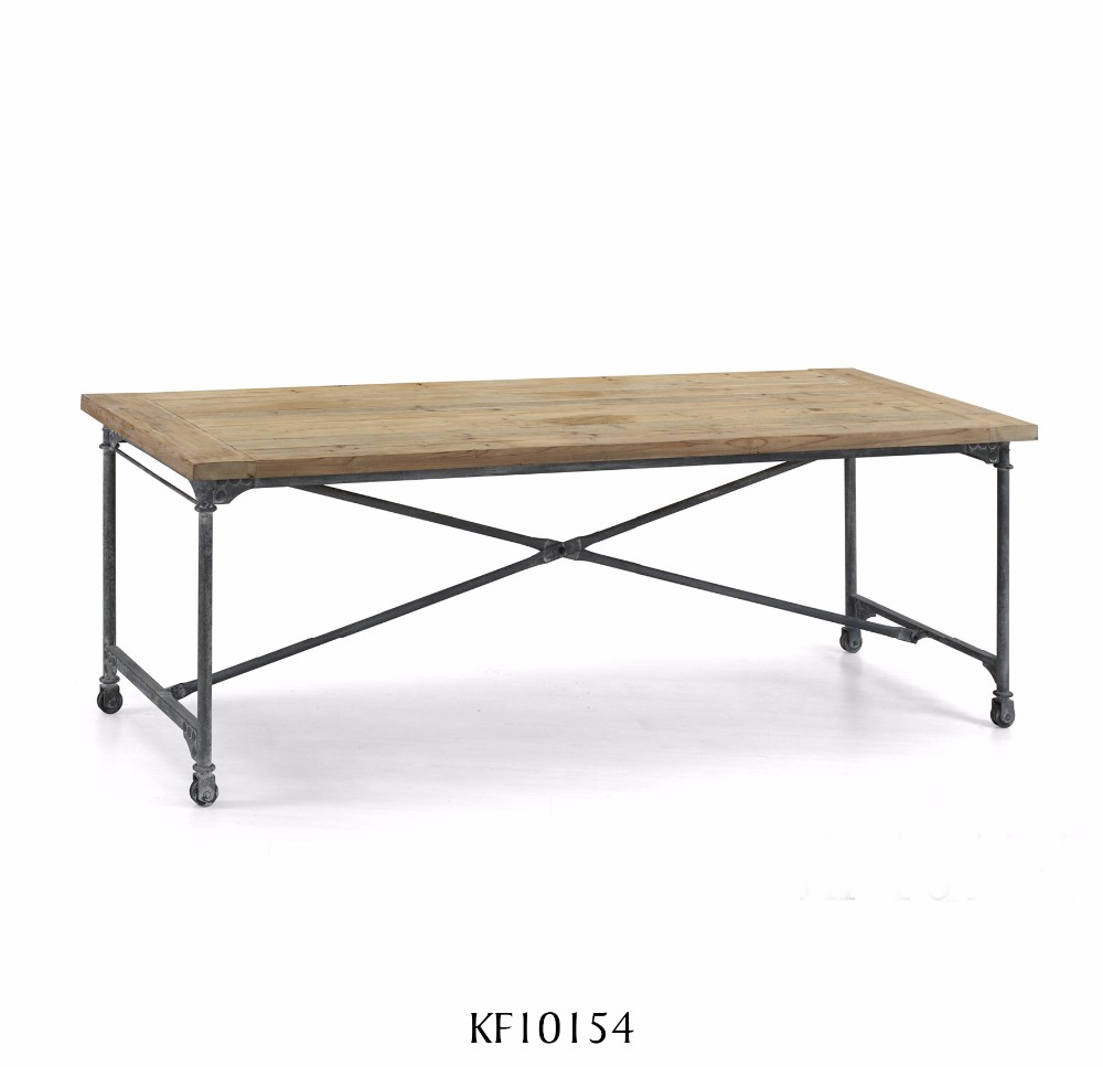 Solid dining table antique furniture recycled fir natural for Where can i buy vintage furniture