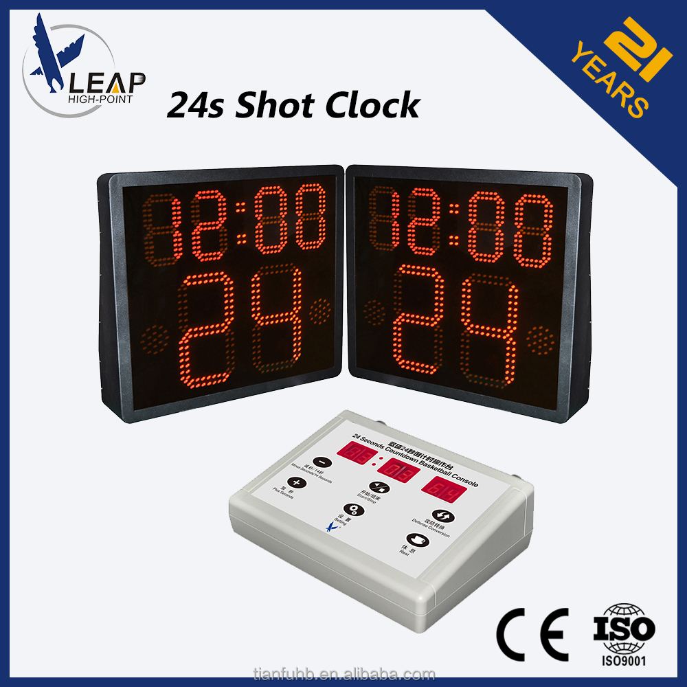basketball one side 24 second shot clock for Red and Yellow LED