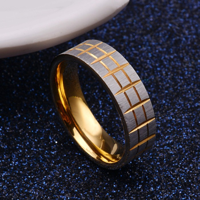 Latest design pattern engraving stainless steel gold ring designs ...