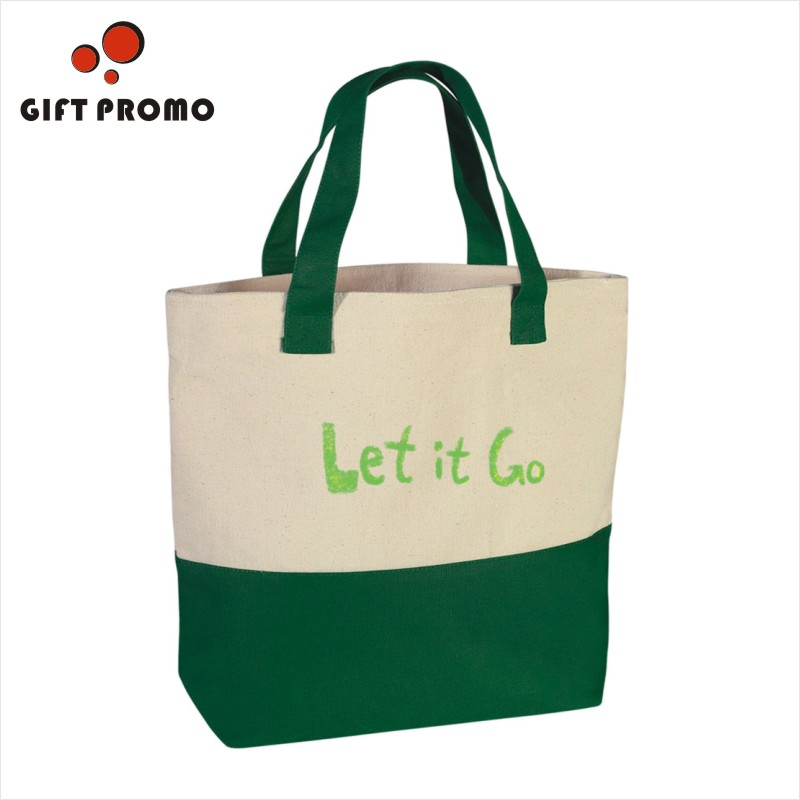 Custom Canvas Cotton Shopping Tote Bag For Promotion