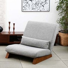 Factory direct sale floor single seat with wood feet sofa chair tatami style